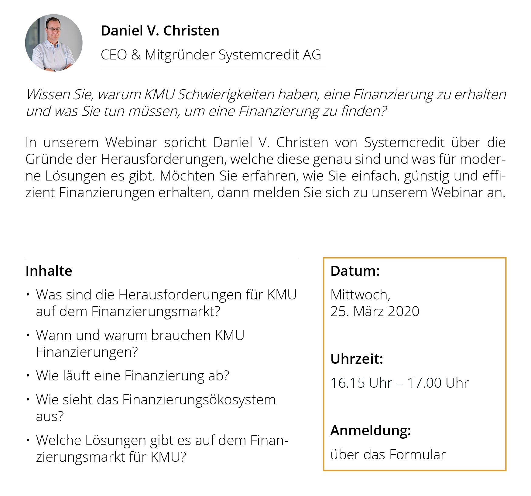 Systemcredit | Informationen Webinar