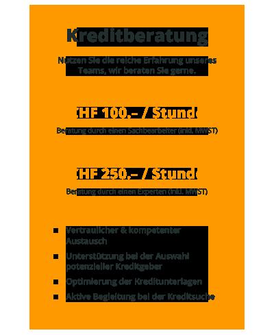 CHF 100.–/h für Sachbearbeiter, CHF 200.–/h für Experten